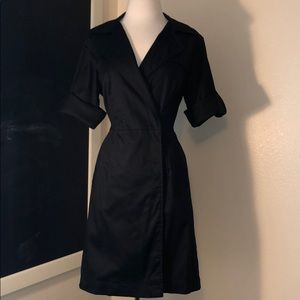 Ann Taylor sexy black raincoat dress